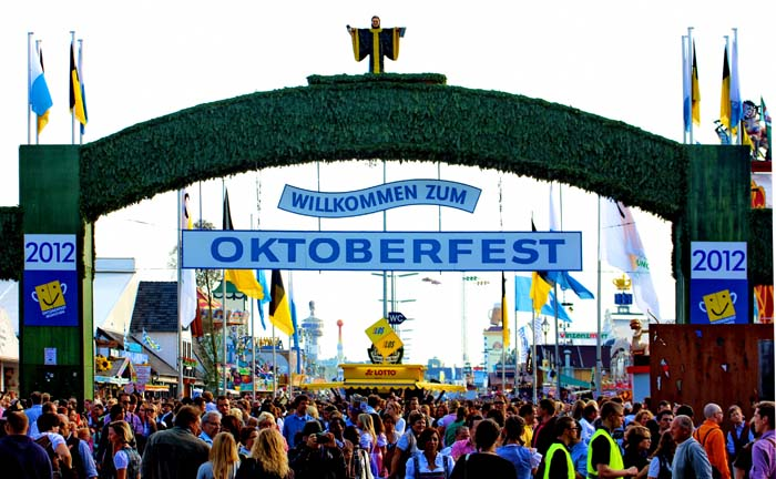 Entrance to Oktoberfest festival. Photo by Wiki Commons