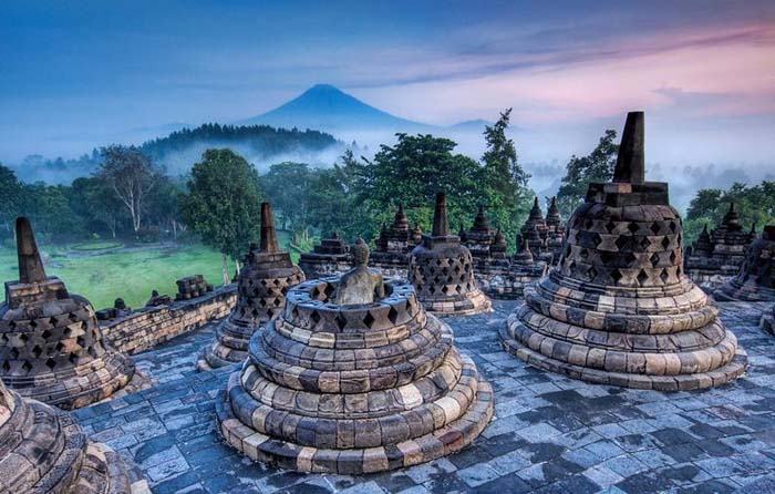Early morning bliss at Borobodur, Indonesia