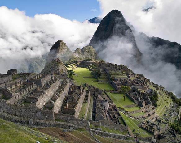 Fog rises over the lost city of Machu Picchu. Photo by Peru Tourism