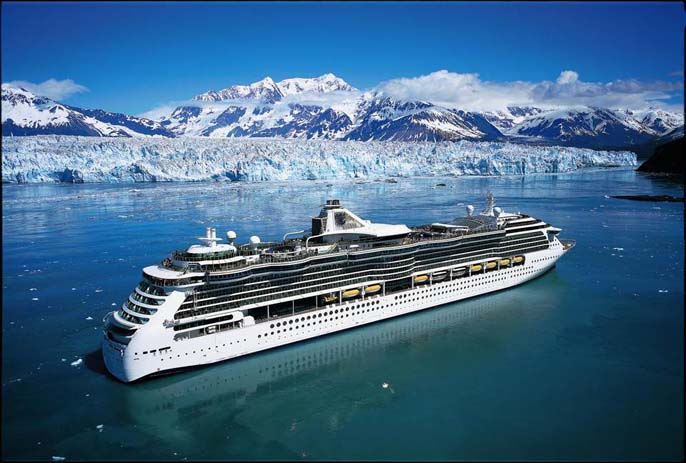 Norweigan Cruise and Lines drifting beside glaciers in the northern Fjords