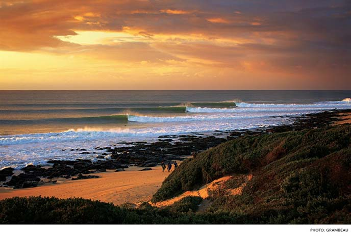 Sunet falls over Jeffery's Bay South Africa. Photo by Surfer Mag