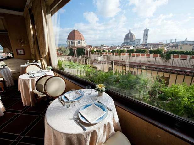 Terrazza Brunelleschi Restaurant at the Grand Hotel Baglioni, Florence. Photo by USA Today
