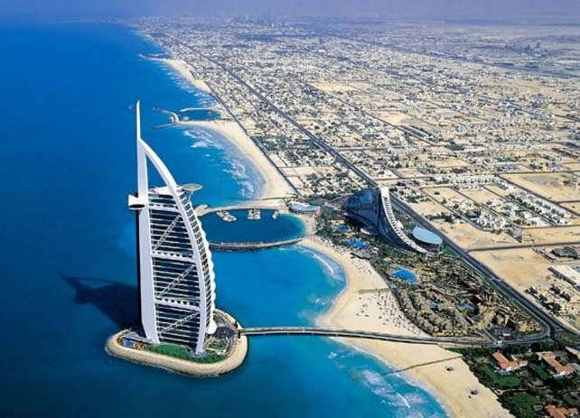 The Burj Al Arab, Dubai is consistently voted the world's most luxurious hotel. Photo by Aprille Ramile