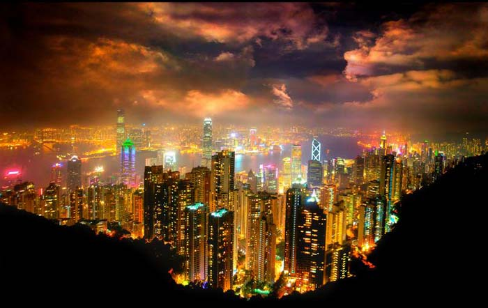 Hong Kong seen from Victoria Peak. Photo by J.T. Noriega