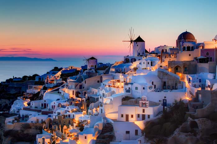 Night falls over Santorini adding even more magic to this stunning place. Photo by Vacation Advice