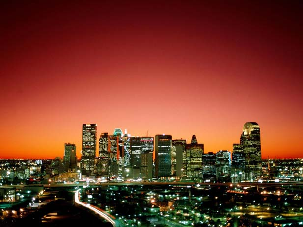 Dallas, Texas City Night Scene. Photo by picstopin.com, Pinterest