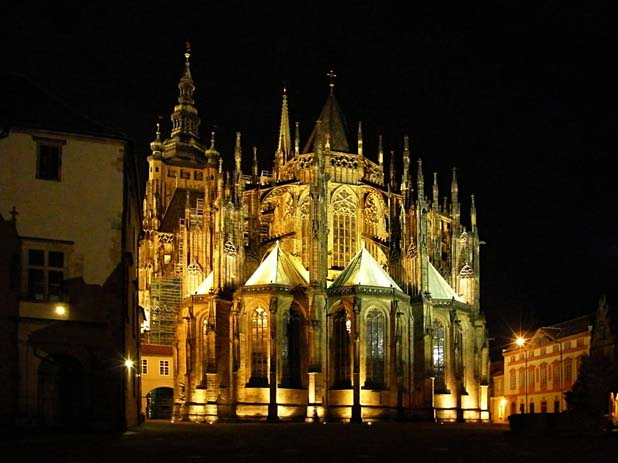 Prague Castle By Night. Photo by on-holidays.eu