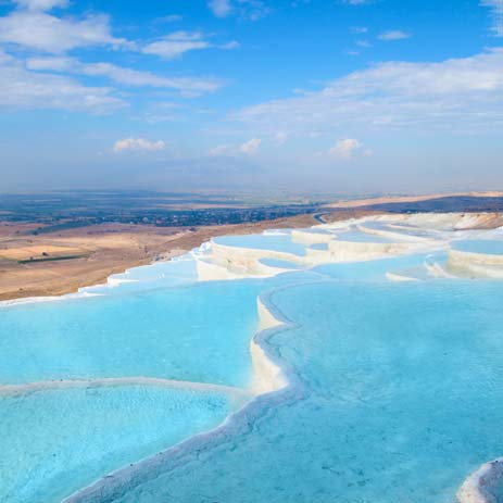 Pamukkale, Turkey springs. Photo by expedia