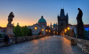 Charles Bridge in the eraly hours of the morning