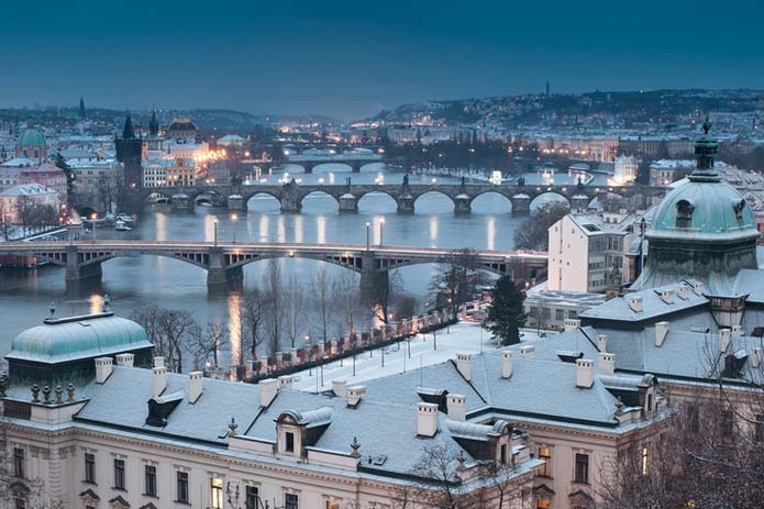 Prague Winter Scenery, Photo by Dipta Nandana, Pinterest