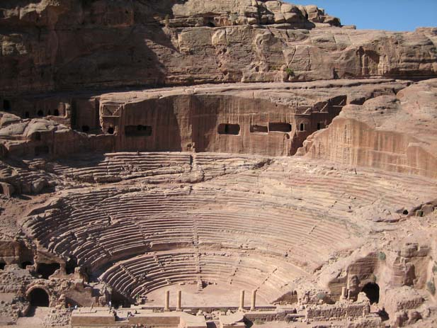 Roman Theatre in Petra, Jordan. Photo by douglaspperkins
