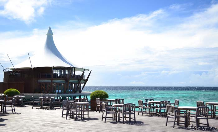 The Lighthouse Restaurant is an overwater pavillion offering only the finest quality dining at the resort. Photo via ferruginouz, flickr
