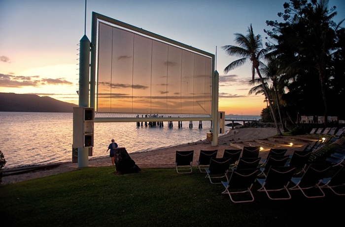 Open air cinema at Daydream resort Photo by top100experiences.com.au