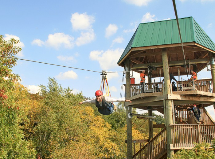 The best zip-line adventures: SuperZip, Hocking Hills, Ohio. Photo by ohiotourism.com