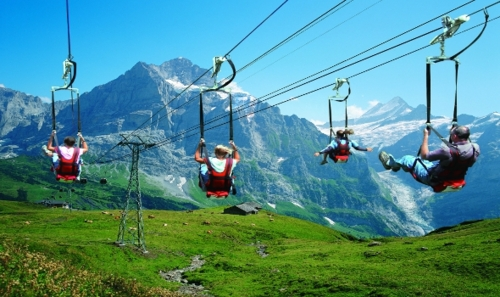 The best zip-line adventures: Ziprider, Grindelwald Switzerland. Photo by tumblr.com