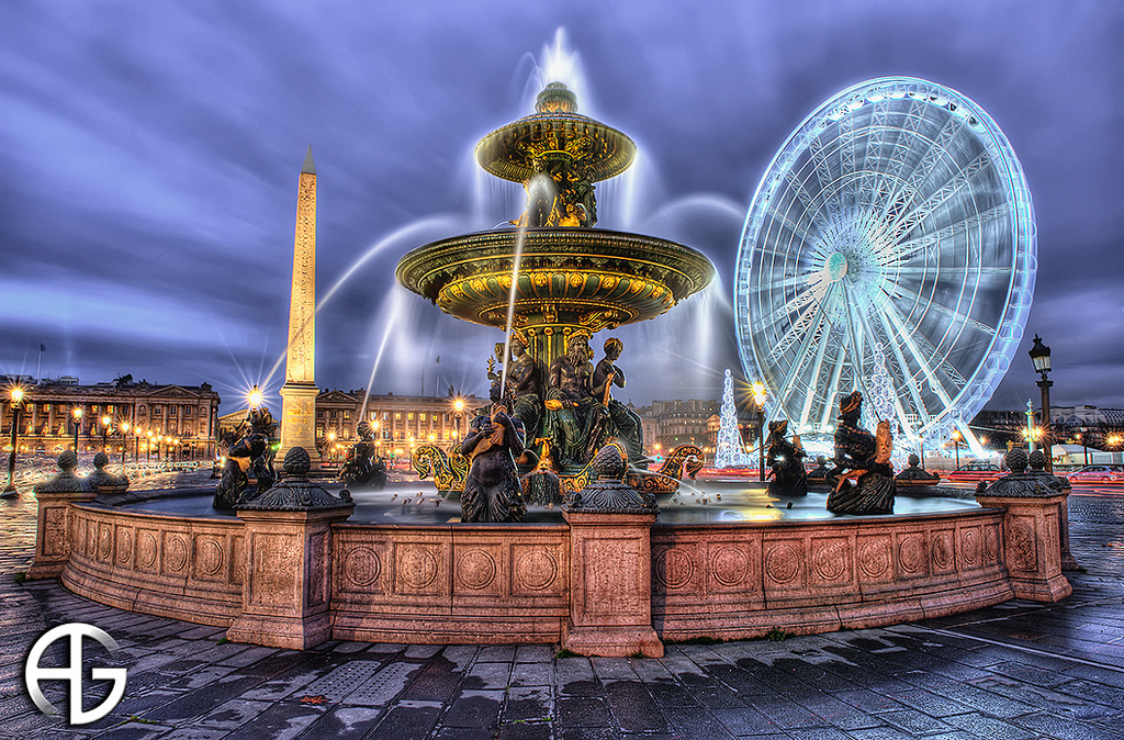 24 hours in Paris: A fountain at the Place de la Concorde. Photo by Anthony Gelot, flickr.jpg