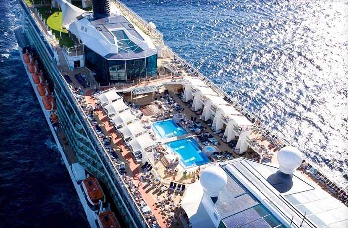 Cruise ship pool deck Photo by celebritycruises