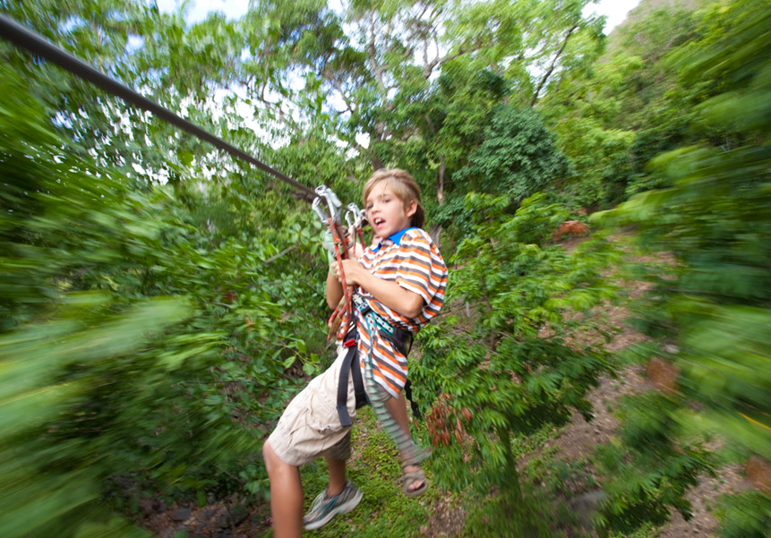 The best zip-line adventures: Sint Maarten zip line. Photo by isleblue.co