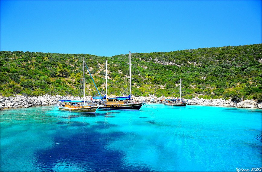 Where to find the clearest water on earth: Orak Island Beach, Bodrum, Turkey. Photo by Yildirim Enes, flickr