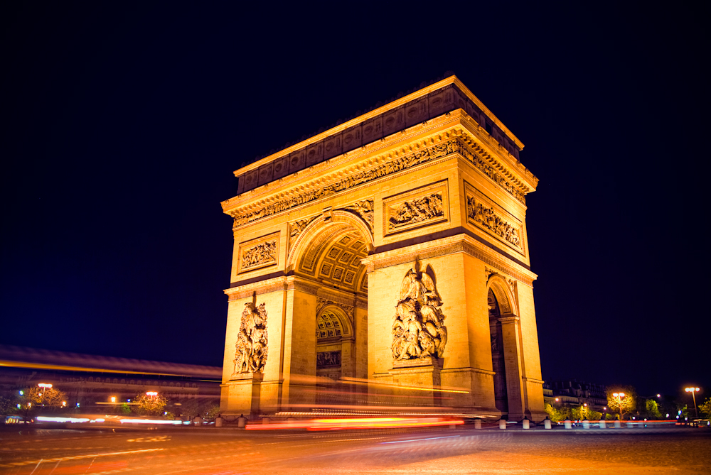24 hours in Paris: The Arc de Triomphe stands 50m tall and is covered in the inscriptions of soldiers. Photo via Allard Schager, flickr