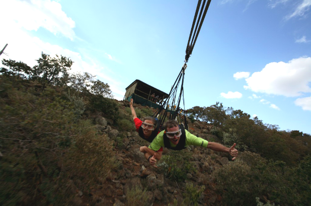 The best zip-line adventures: The Zip 2000, Sun City, South Africa. Photo by theactivetimes.com