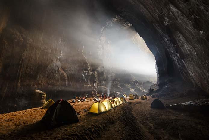 Camping in Son Doon cave, Vietnam. Photo by Ryan Deboodt via Oxalis.com.vn