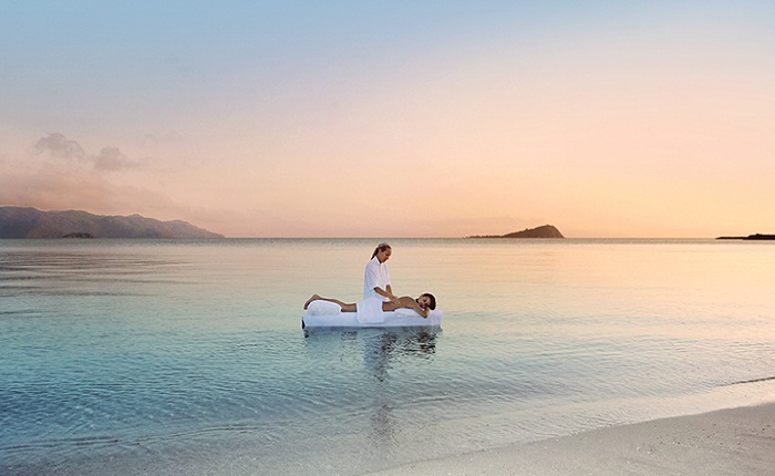 Enjoy an ocean massage at OneOnly Resort in the Whitundays. Photo courtesy of the resort
