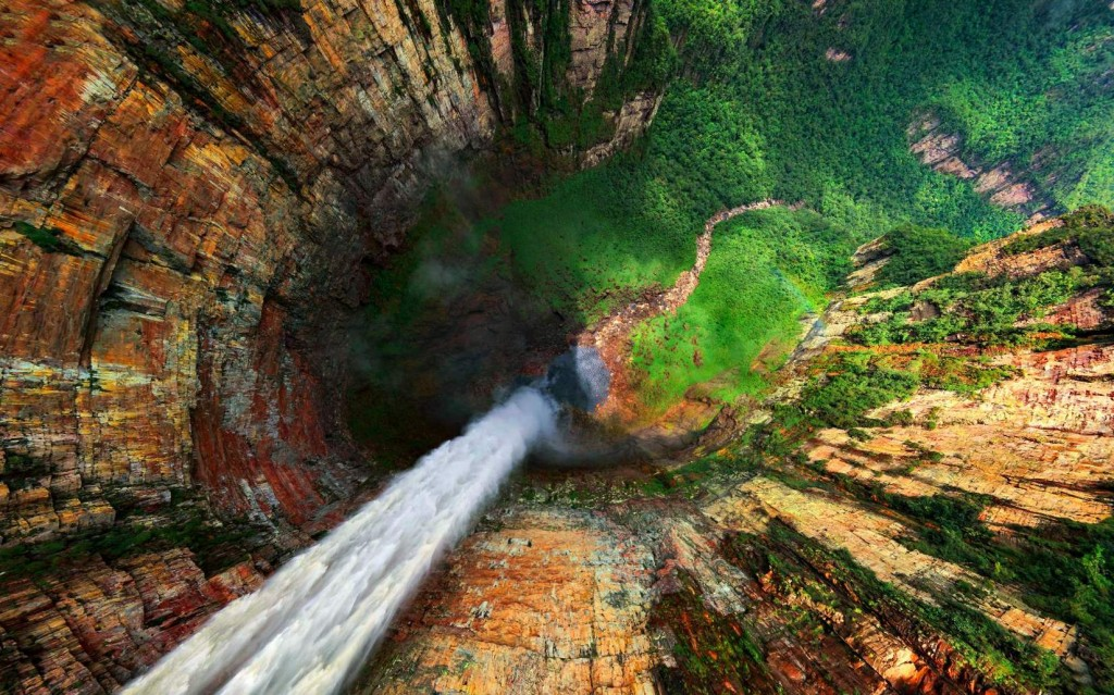 The best waterfalls: Breathtaking views of Angel Falls. It's a long way down. Photo by Air Pano
