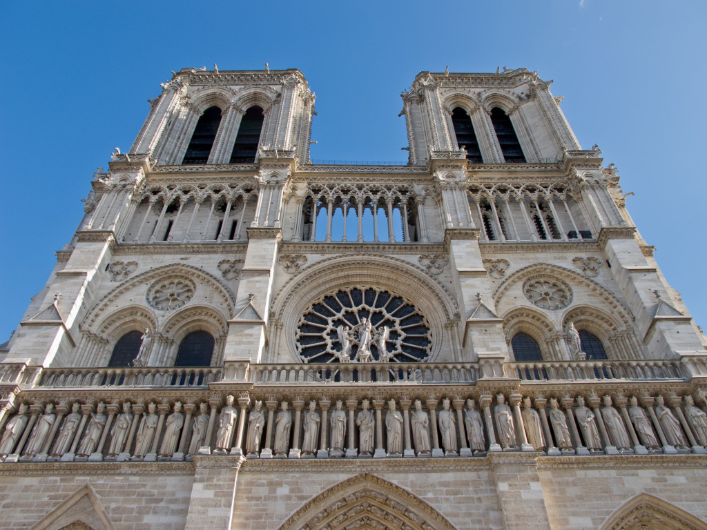 10 free things to do in Paris: Cathédrale Notre Dame, Paris. Photo by wikimedia.org