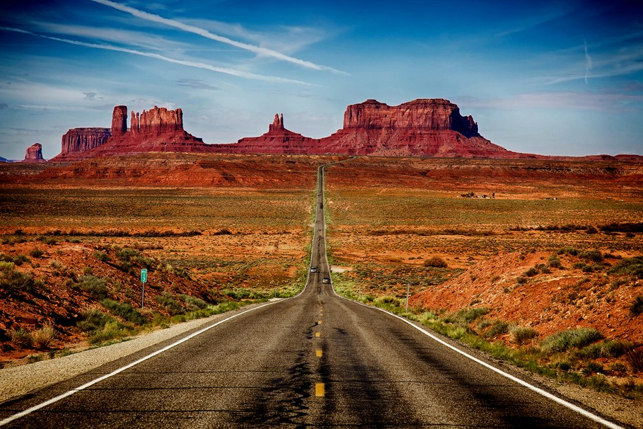 The greatest drives in the world: Mile marker 13 on US route 163 in Arizona. Photo by Rozanne Hakala, flickr