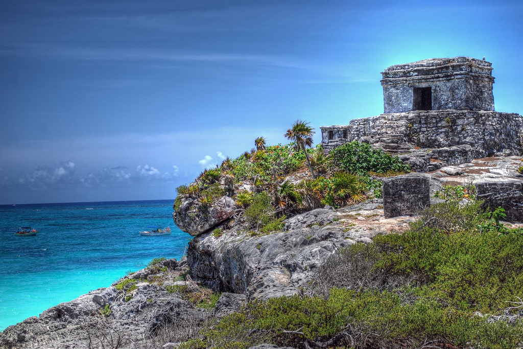 Places to visit in Mexico: The ancient beachside ruins in the city of Tulum. Photo by StGrundy, flickr