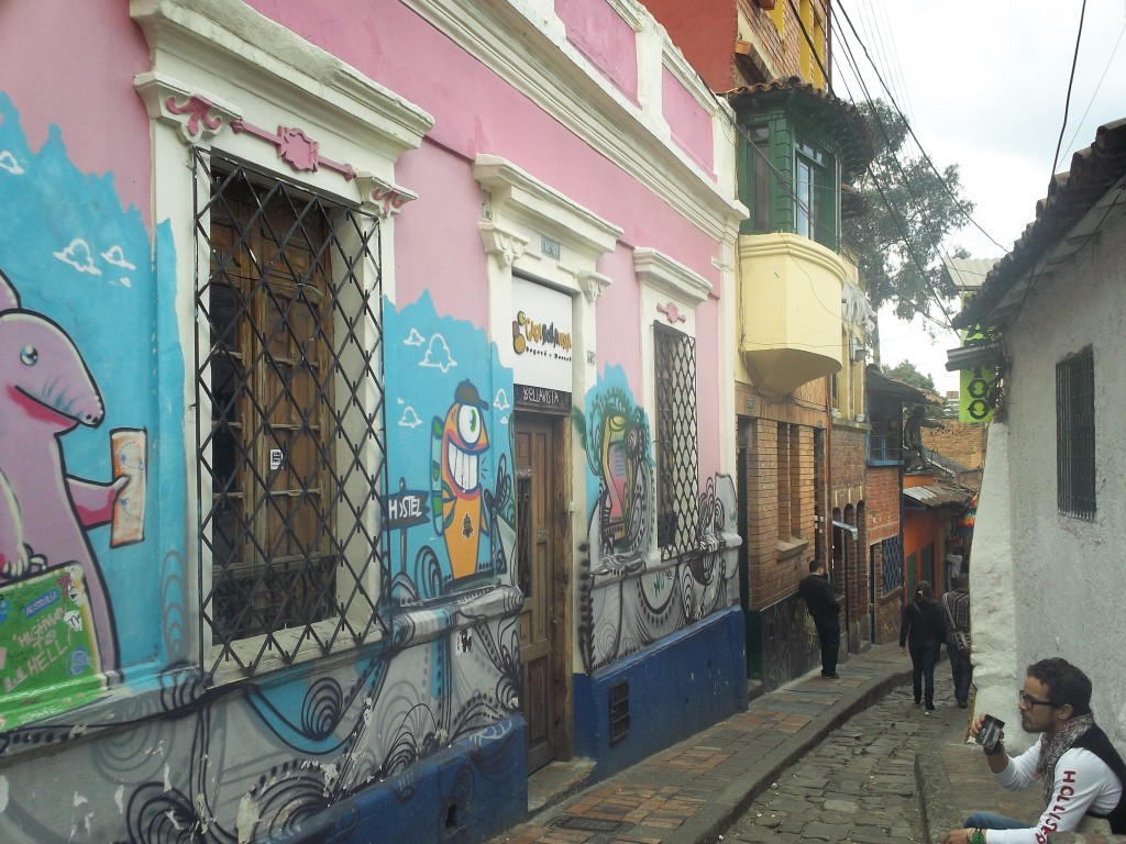 5 peaceful and quiet hostels around the world: Street art nearby Alegrias Hostel Bogota, Colombia. Photo by vasilado.wordpress.com