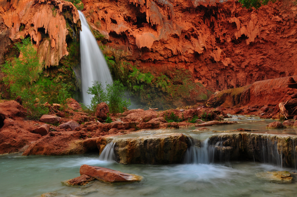 The best waterfalls: Havasu Falls and creek in the Grand Canyon, Arizona. Photo by aditi_g, flickr