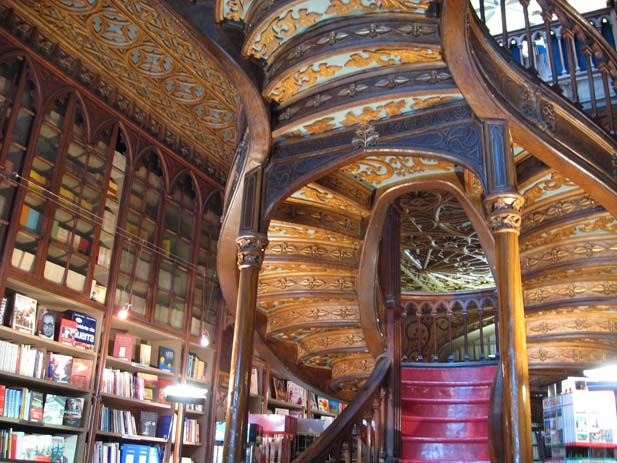 The Livaria Lello in Porto was named as one of Europes most beautiful book stores. Photo by Kristina_Zero, flickr