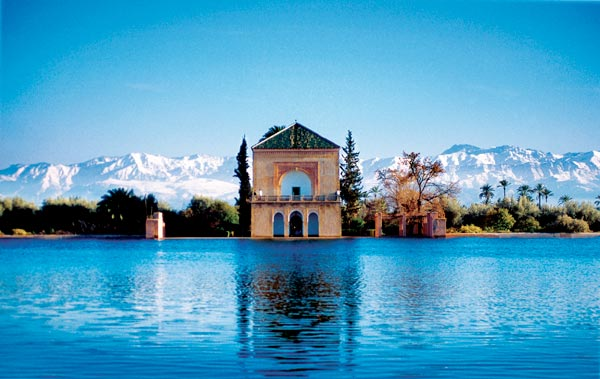 Things to do while staying in Marrakesh: The Menara Gardens, Marrakech. Photo by darijadictionary.com
