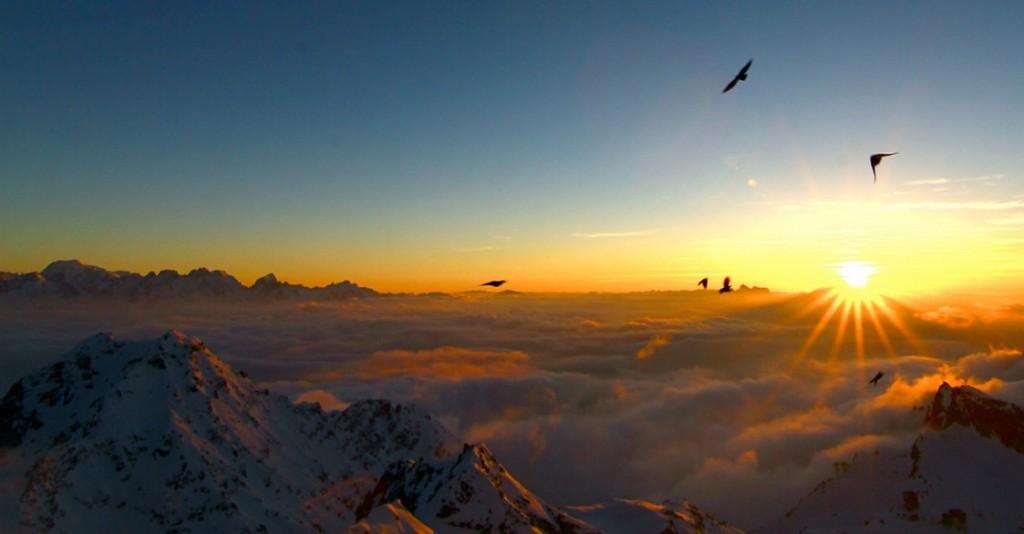 The best places to ski in Europe: Alpine sunset in Verbier, Switzerland. Photo by clicheforu , Flickr