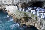 Dining on the edge of a cliff at the Grotta Palazzese