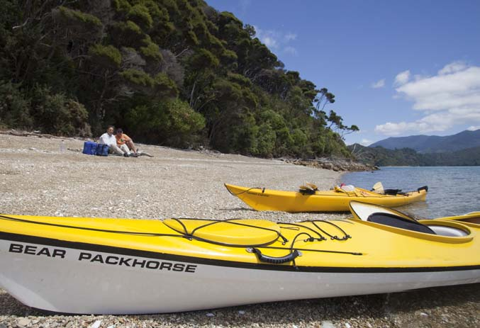 Kayak around the Marlborough Sounds. Photo by lovemarlborough.co.nz