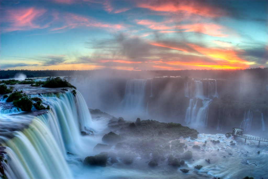 The best waterfalls: Iguazu Falls as seen from the Brazilian Border. Photo by SF Brit, flickr