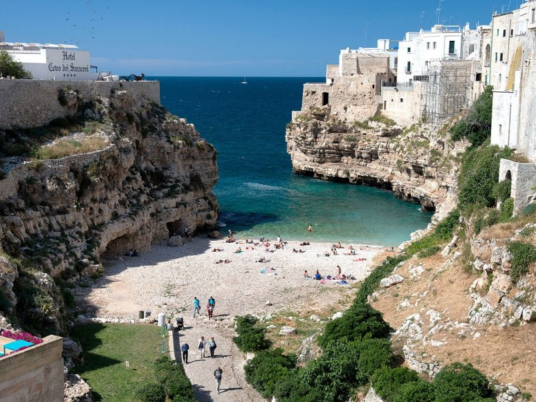 Best beach towns in Italy: Polignano A Mare. Photo by Robert Bush, flickr