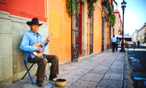 Street players in the bright and cultural city of Oaxaca. Photo by Xavier Donat, flickr