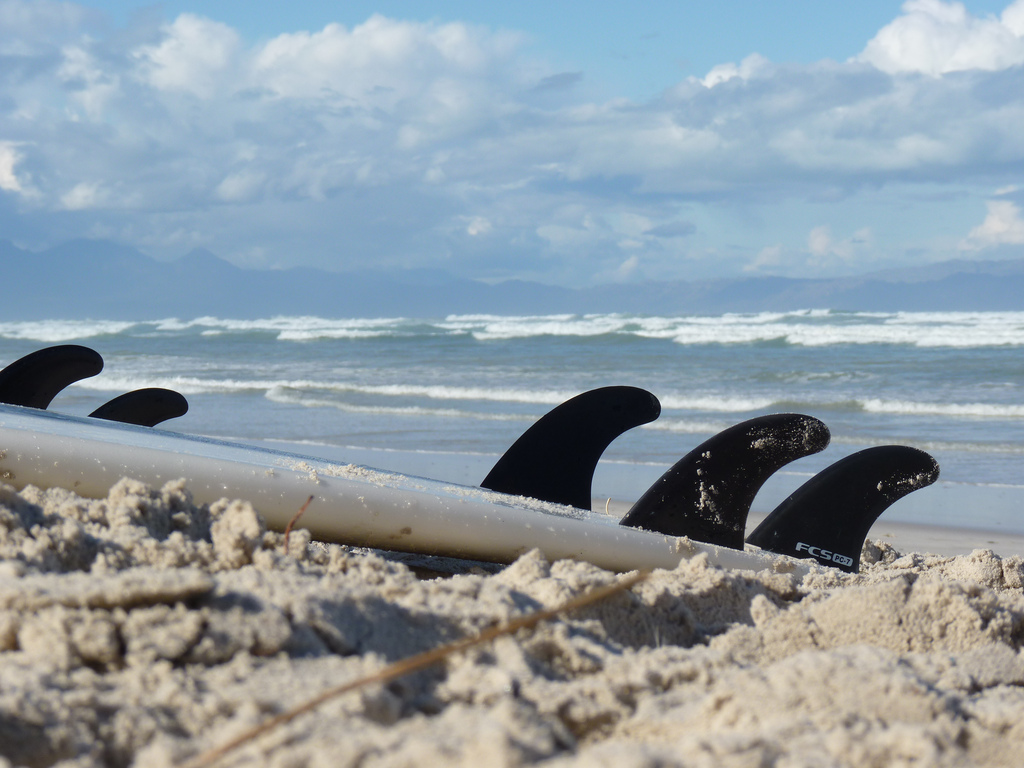 Best surfing in South Africa: Surfboards in waiting at Muizenberg. Photo by t.bo79, flickr