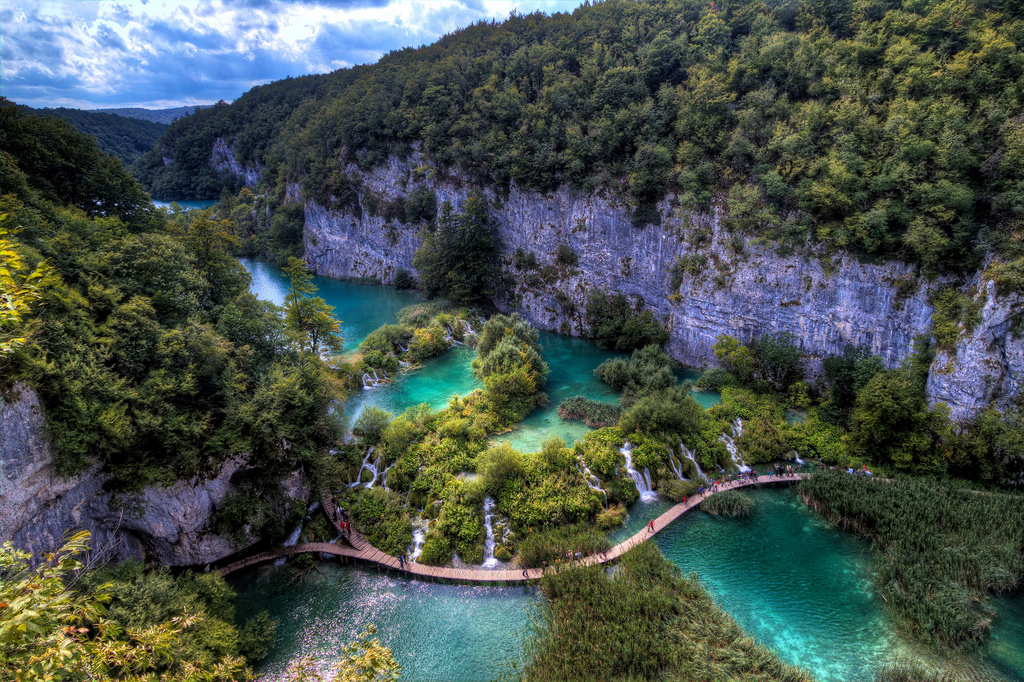 The best waterfalls: Plitvice Lakes are stunning because of the incredible clear waters and winding footpaths. Photo by Louis Allen