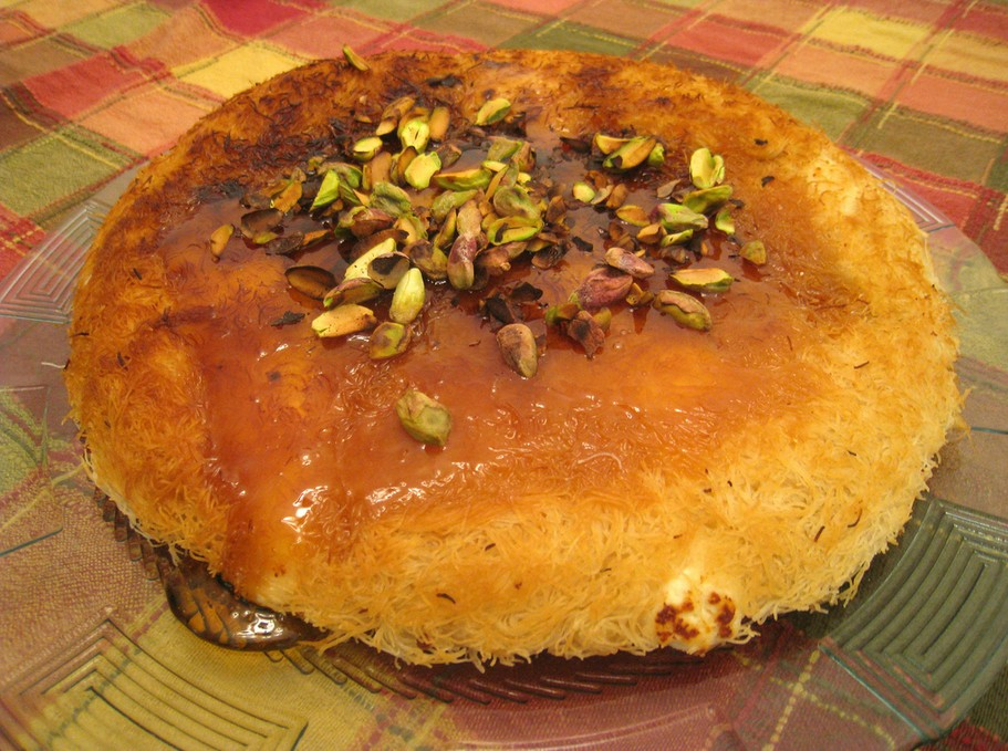 5 of the best foods to eat in Jordan: Knafeh. Photo by Nimrod Bar, flickr