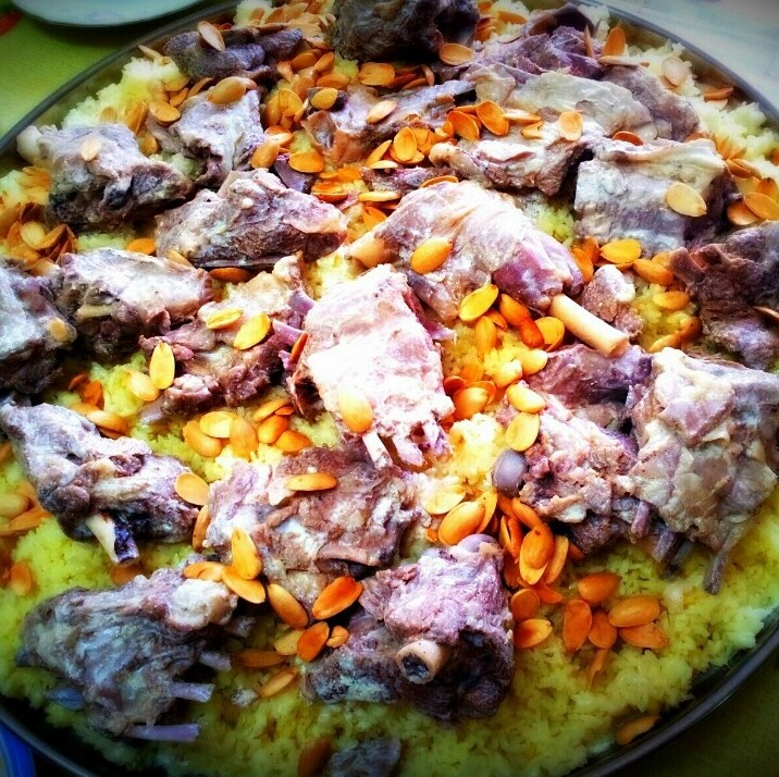 5 of the best foods to eat in Jordan:  Mansaf. Photo by Sally Mousa, Pinterest