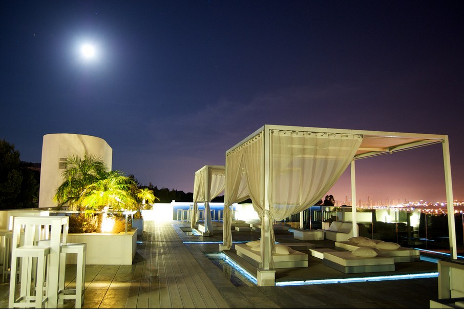 The best outdoor spas to revitalise and detox: SHA Wellness spa at night. Photo by John O'Nolanz