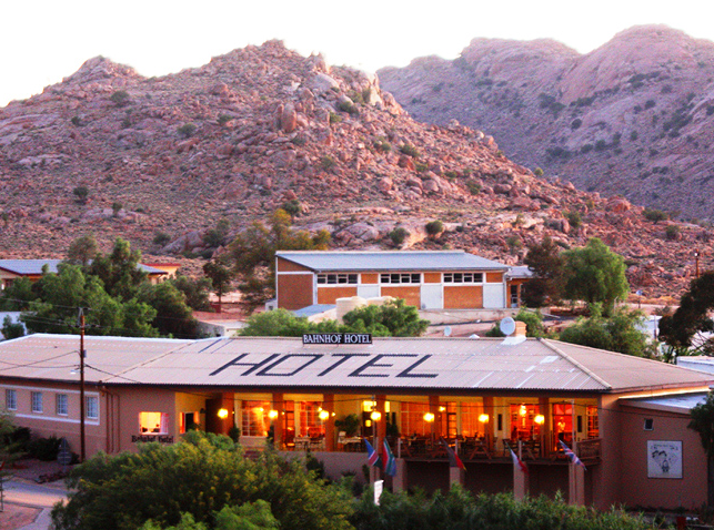 deserts in Namibia: The Bahnhof Hotel Aus. Photo by, wildafricatravel.com