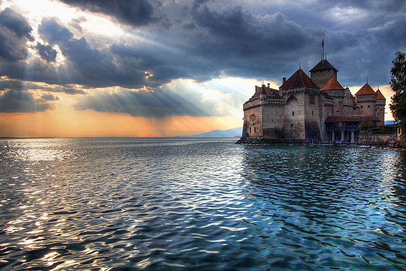 Fairy tale places you should visit: The Chateau de Chillon, Montreux, Switzerland. Photo by Flickr