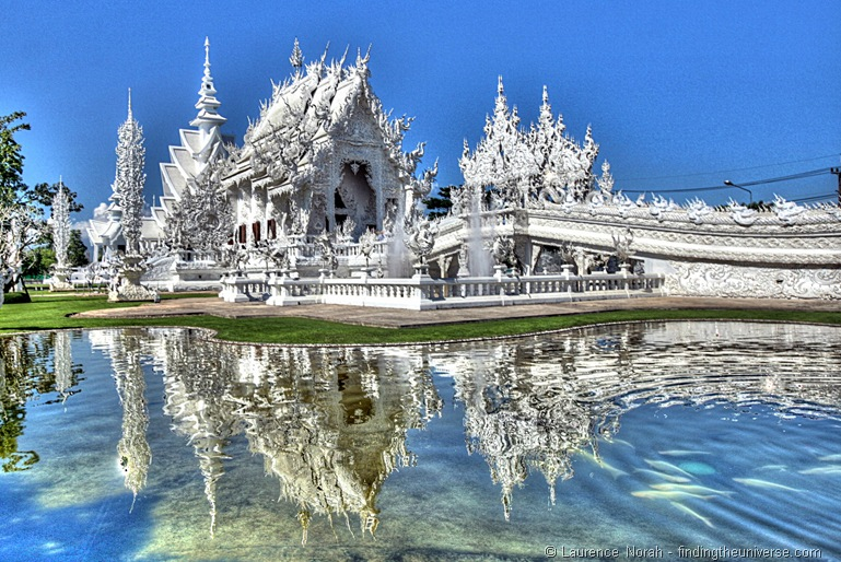 Fairy tale places to visit: White Castle - Wat Rong Khun, Chiang Rai, Thailand. Photo by Laurence Norah