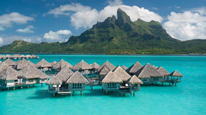 St Regis Resort Bora Bora terrace sea view. Photo by splendia.com
